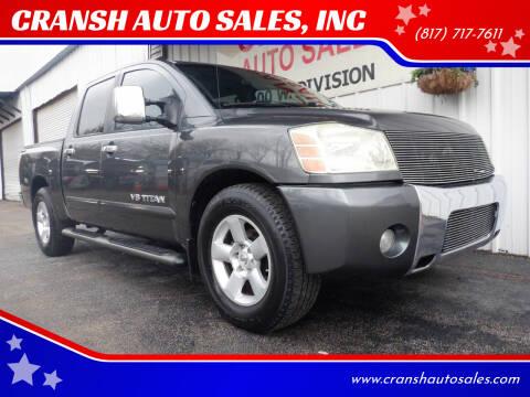 2005 Nissan Titan for sale at CRANSH AUTO SALES, INC in Arlington TX