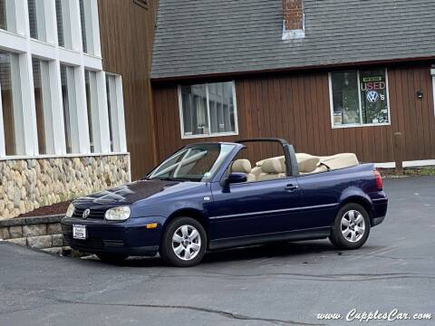 2002 Volkswagen Cabrio for sale at Cupples Car Company in Belmont NH