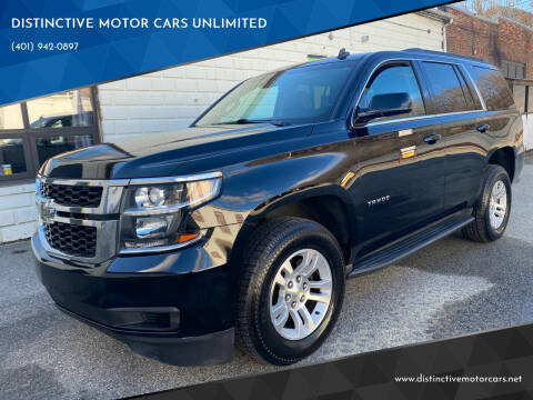 2015 Chevrolet Tahoe for sale at DISTINCTIVE MOTOR CARS UNLIMITED in Johnston RI