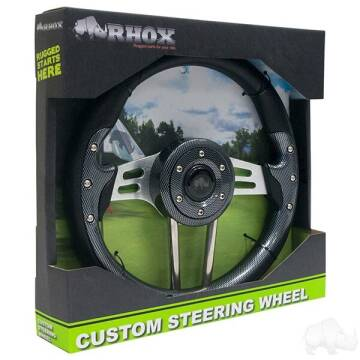 RHOX Steering Wheel Aviator 4 Carbon Fiber Grip/Br for sale at 70 East Custom Carts Atlantic Beach - parts and accessories in Atlantic Beach NC