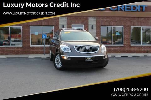 2010 Buick Enclave for sale at Luxury Motors Credit Inc in Bridgeview IL