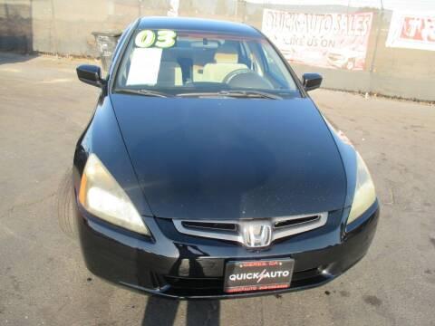 2003 Honda Accord for sale at Quick Auto Sales in Modesto CA