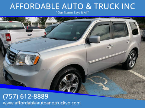 2015 Honda Pilot for sale at AFFORDABLE AUTO & TRUCK INC in Virginia Beach VA