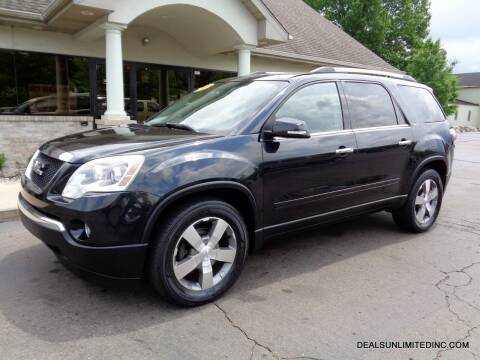 2012 GMC Acadia for sale at DEALS UNLIMITED INC in Portage MI