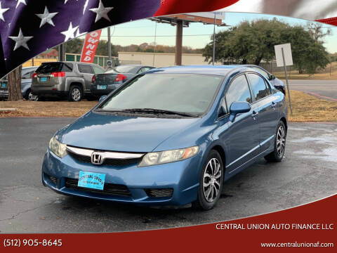 2011 Honda Civic for sale at Central Union Auto Finance LLC in Austin TX