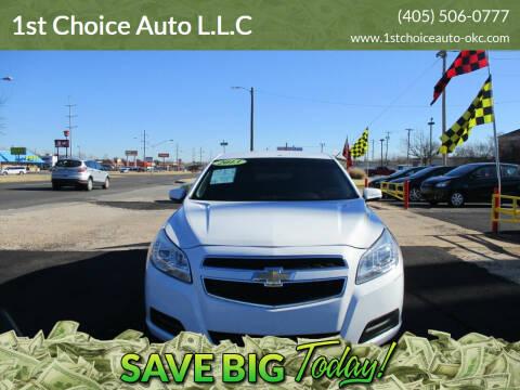 2013 Chevrolet Malibu for sale at 1st Choice Auto L.L.C in Oklahoma City OK