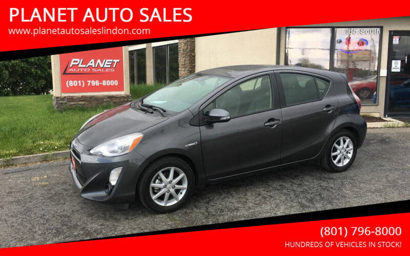 2016 Toyota Prius c for sale at PLANET AUTO SALES in Lindon UT