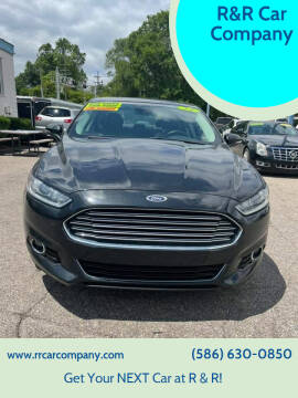 2014 Ford Fusion for sale at R&R Car Company in Mount Clemens MI