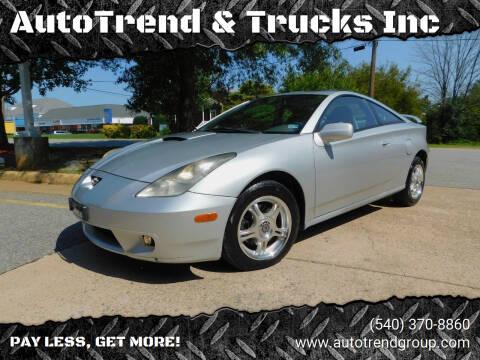 2002 Toyota Celica for sale at AutoTrend & Trucks Inc in Fredericksburg VA