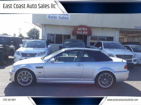 2002 BMW M3 for sale at East Coast Auto Sales llc in Virginia Beach VA