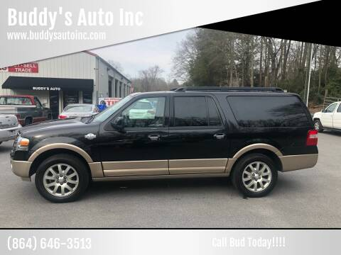 2012 Ford Expedition EL for sale at Buddy's Auto Inc in Pendleton, SC