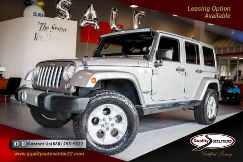 2014 Jeep Wrangler Unlimited for sale at Quality Auto Center of Springfield in Springfield NJ