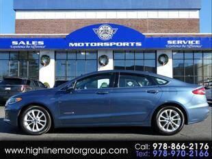 2019 Ford Fusion Hybrid for sale at Highline Group Motorsports in Lowell MA