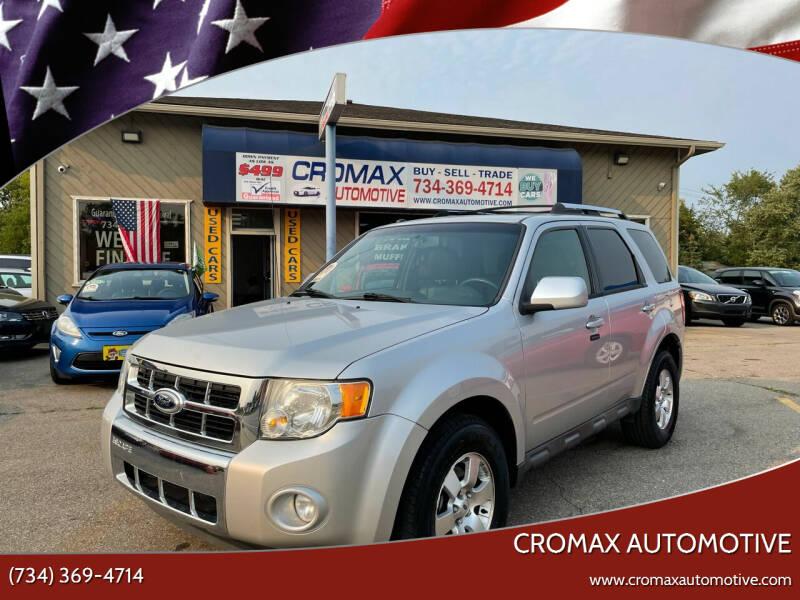 2010 Ford Escape for sale at Cromax Automotive in Ann Arbor MI