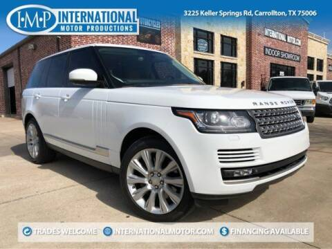 2015 Land Rover Range Rover for sale at International Motor Productions in Carrollton TX