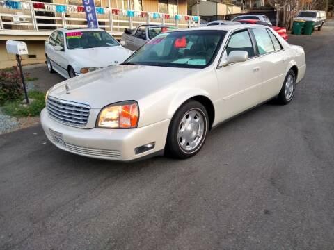 2002 Cadillac DeVille for sale at AUCTION SERVICES OF CALIFORNIA in El Dorado CA