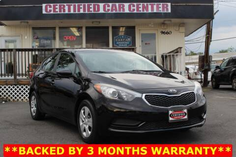 2016 Kia Forte for sale at CERTIFIED CAR CENTER in Fairfax VA
