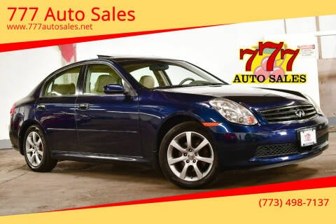 2005 Infiniti G35 for sale at 777 Auto Sales in Bedford Park IL