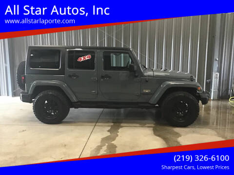 2014 Jeep Wrangler Unlimited for sale at All Star Autos, Inc in La Porte IN