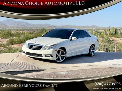 2010 Mercedes-Benz E-Class for sale at Arizona Choice Automotive LLC in Mesa AZ
