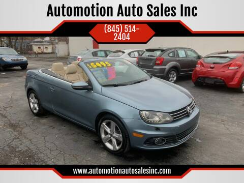 2012 Volkswagen Eos for sale at Automotion Auto Sales Inc in Kingston NY