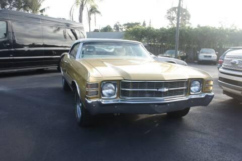 1971 Chevrolet Chevelle Malibu for sale at Dream Machines USA in Lantana FL