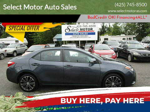 2016 Toyota Corolla for sale at Select Motor Auto Sales in Lynnwood WA