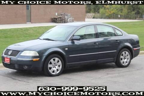 2002 Volkswagen Passat for sale at My Choice Motors Elmhurst in Elmhurst IL