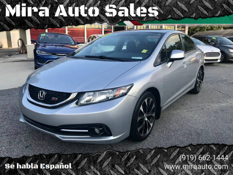 2013 Honda Civic for sale at Mira Auto Sales in Raleigh NC