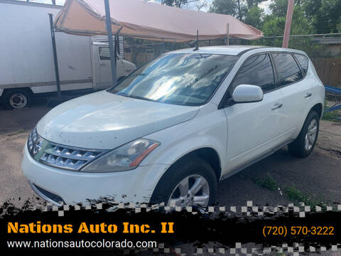 2006 Nissan Murano for sale at Nations Auto Inc. II in Denver CO