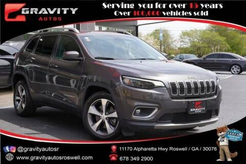 2020 Jeep Cherokee for sale at Gravity Autos Roswell in Roswell GA