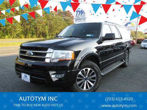 2016 Ford Expedition EL for sale at AUTOTYM INC in Fredericksburg VA