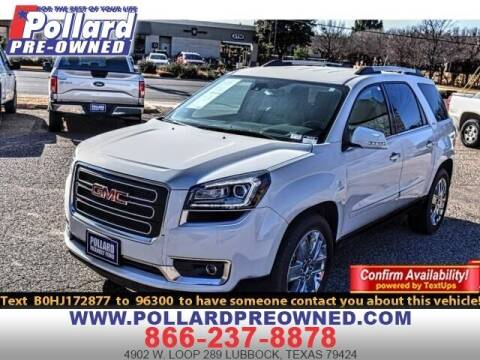 2017 GMC Acadia Limited for sale at South Plains Autoplex by RANDY BUCHANAN in Lubbock TX
