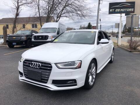 2015 Audi S4 for sale at RT28 Motors in North Reading MA