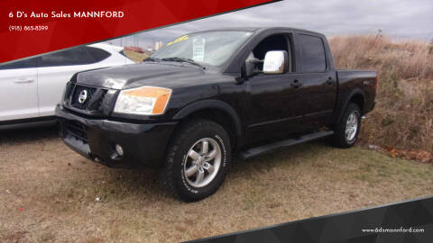 2010 Nissan Titan for sale at 6 D's Auto Sales MANNFORD in Mannford OK