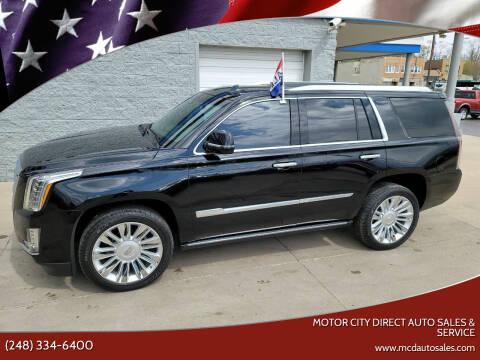 2016 Cadillac Escalade for sale at Motor City Direct Auto Sales & Service in Pontiac MI