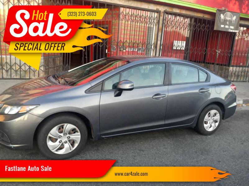 2013 Honda Civic for sale at Fastlane Auto Sale in Los Angeles CA