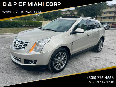 2016 Cadillac SRX for sale at D & P OF MIAMI CORP in Miami FL