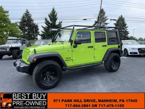 2013 Jeep Wrangler Unlimited for sale at Best Buy Pre-Owned in Manheim PA