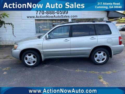 2005 Toyota Highlander for sale at ACTION NOW AUTO SALES in Cumming GA