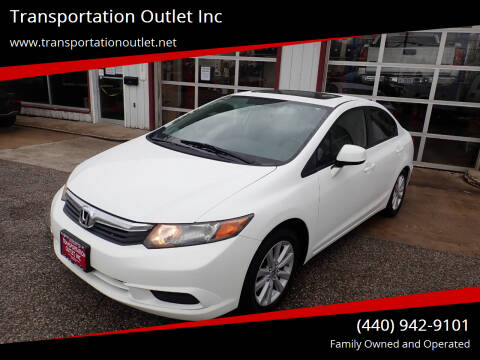 2012 Honda Civic for sale at Transportation Outlet Inc in Eastlake OH