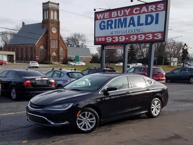 2015 Chrysler 200 for sale at Grimaldi Auto Sales Inc in Warren MI