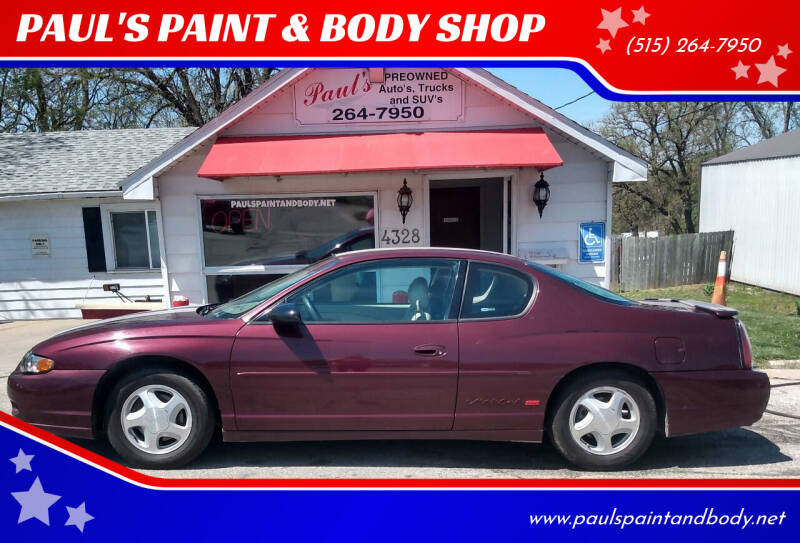 2003 Chevrolet Monte Carlo for sale at PAUL'S PAINT & BODY SHOP in Des Moines IA