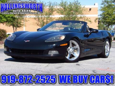 2005 Chevrolet Corvette for sale at Hollingsworth Auto Sales in Raleigh NC
