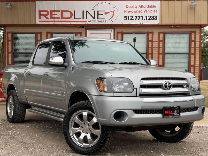 2006 Toyota Tundra for sale at REDLINE AUTO SALES LLC in Cedar Creek TX