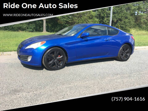 2010 Hyundai Genesis Coupe for sale at Ride One Auto Sales in Norfolk VA