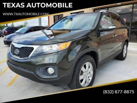 2012 Kia Sorento for sale at TEXAS AUTOMOBILE in Houston TX