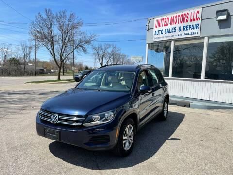 2016 Volkswagen Tiguan for sale at United Motors LLC in Saint Francis WI
