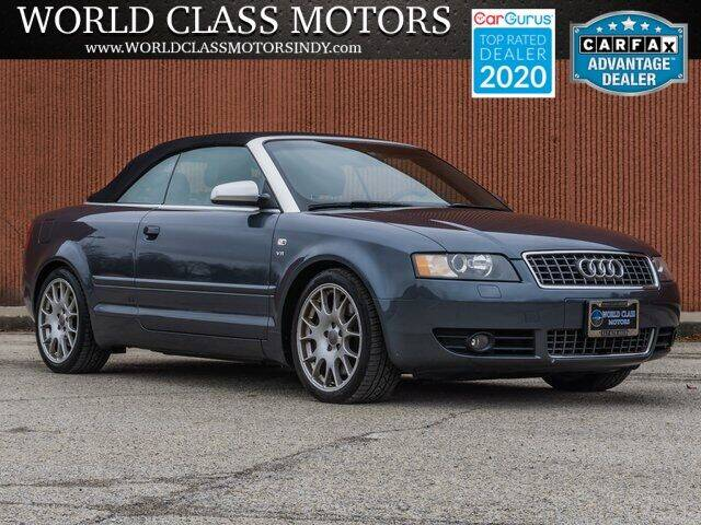 2006 Audi S4 for sale at World Class Motors LLC in Noblesville IN