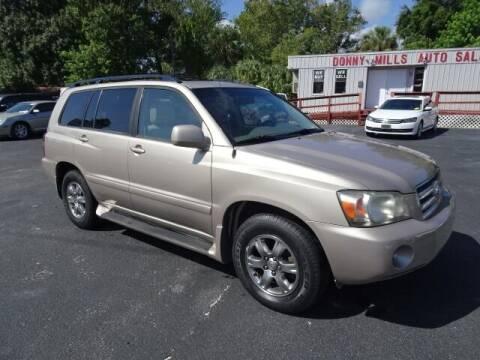 2007 Toyota Highlander for sale at DONNY MILLS AUTO SALES in Largo FL